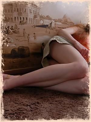 Innocent looking blond teenie poses naked on the floor