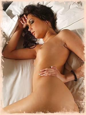 Georgia Jones naked on the bed