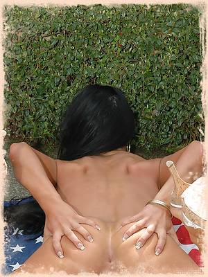 Trista gets naked outside and spreads her ass for you to see!